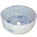 Weiss und Blau Waschbecken - vintage