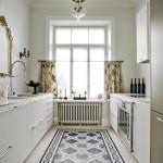 Küche mit Zementfliesen