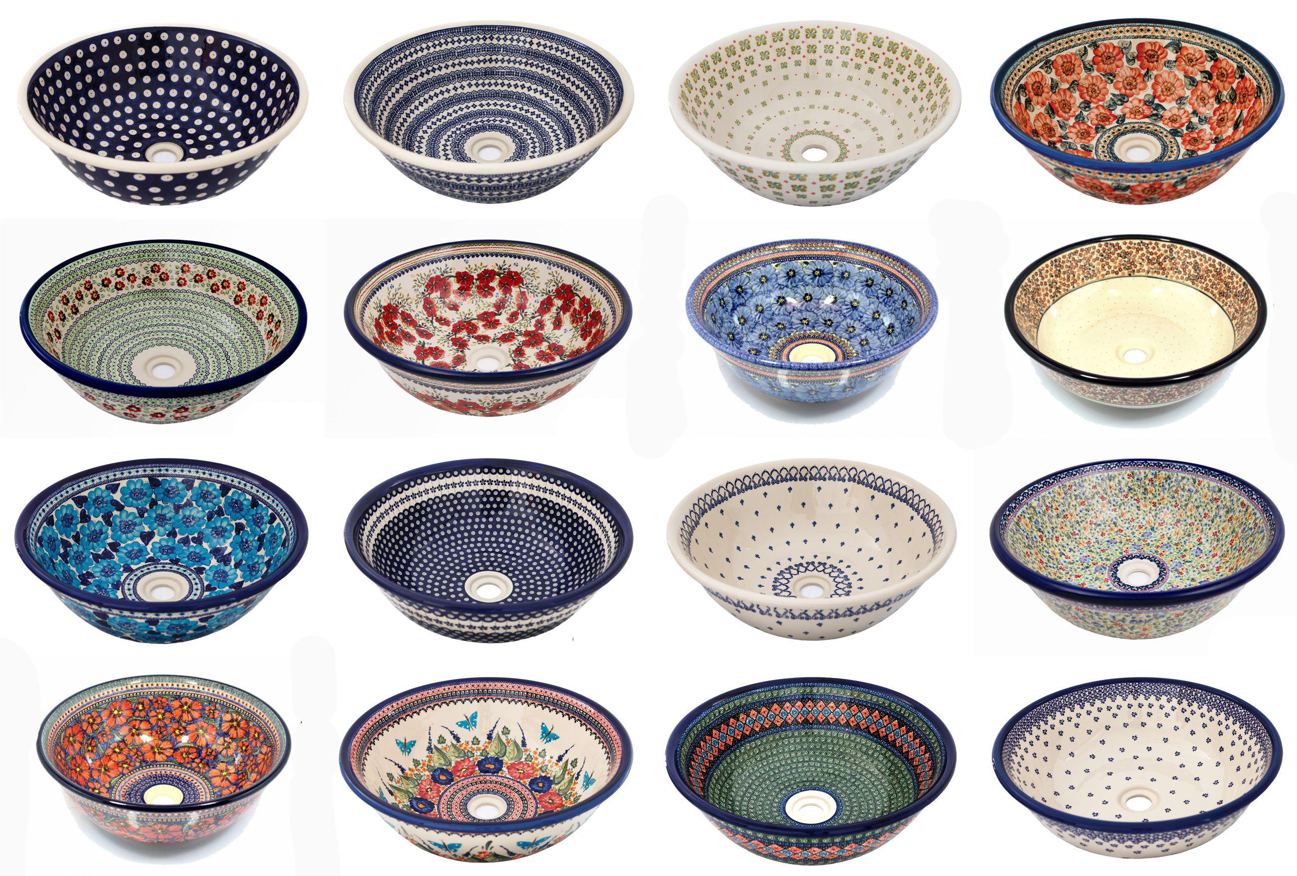Handbemalte Waschbecken Bunzlauer Keramik Designer Vintage