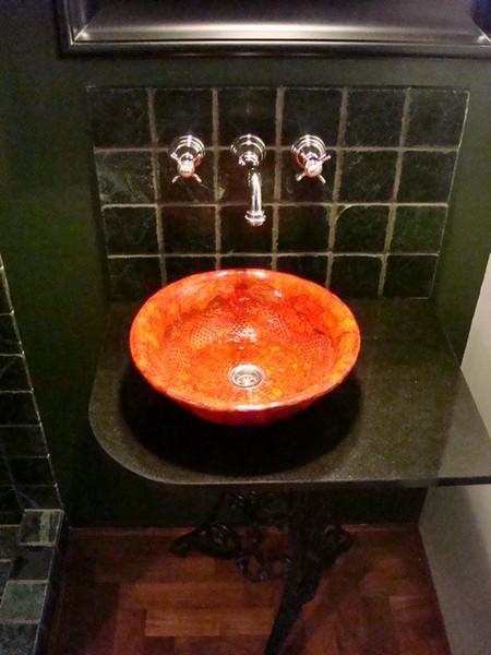 Innen Ideen - Waschbecken Aus Ton - Vintage Vintage Aufsatz Waschbecken