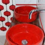 Wohnideen - Bemalte Waschbecken - Bemalte Antike Aufsatz Waschbecken