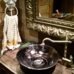 Wohnideen - Originelle Waschbecken - Vintage Landhausstil Aufsatz Waschbecken