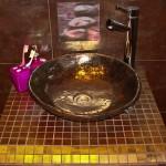 Badezimmer Ideen - Kunst Waschbecken - Bemalte Design Aufsatz Waschbecken