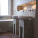 Waschbecken aus Beton