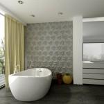 Badezimmer mit 3D Fliesen