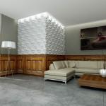 Betonplatten - Wohnzimmer
