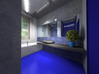 Blaue Barcelona Mosaik