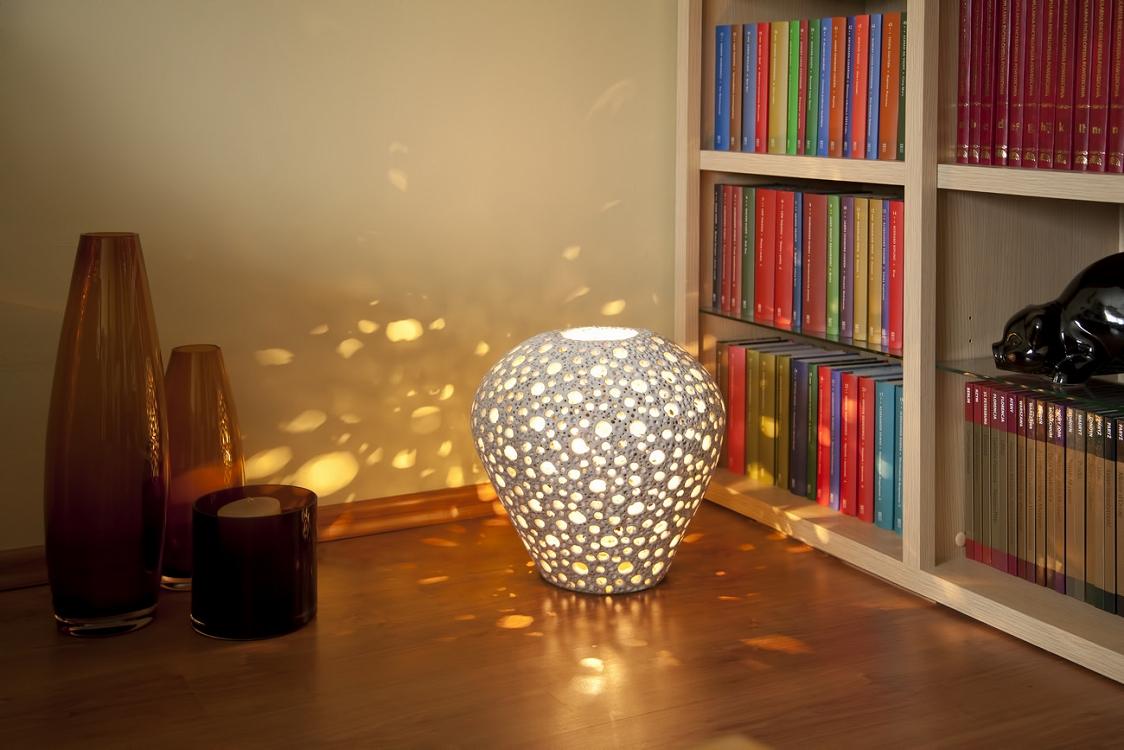 Handgemachte Lampe - Löchern Lampe
