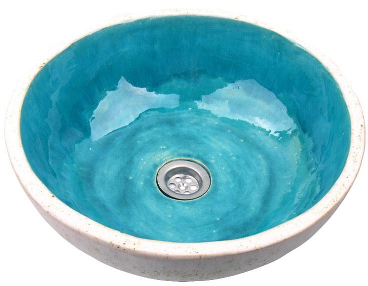 Handgemachte Waschbecken